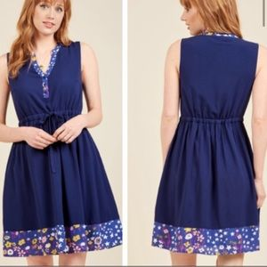 Modcloth Midnight Meadow Shift Dress